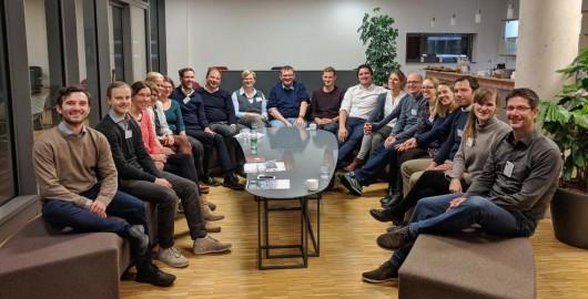 Abbildung 1: Teilnehmer des Arbeitskreises Organisatorische Netzwerkforschung 2017 in Heidelberg (© Lehrstuhl für Wirtschafts- und Sozialgeographie, Universität Heidelberg)